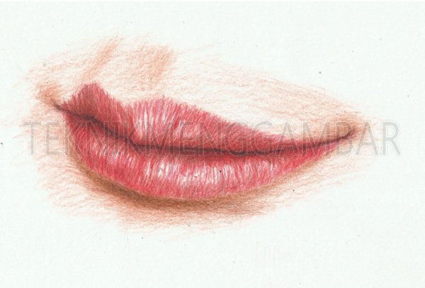 Menggambar Bibir