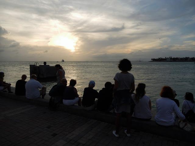 Puesta de sol desde Mallory Square en Key West