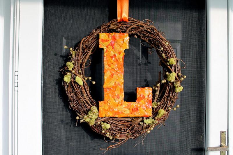 Lombardo Lagniappe Diy Fall Letter Wreath