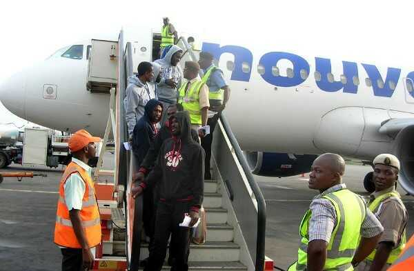 PHOTO: 155 Nigerians Voluntarily Return From Libya