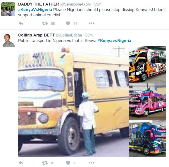 Nigerians are now roasting Kenyans in #KenyaVsNigeria Twitter war