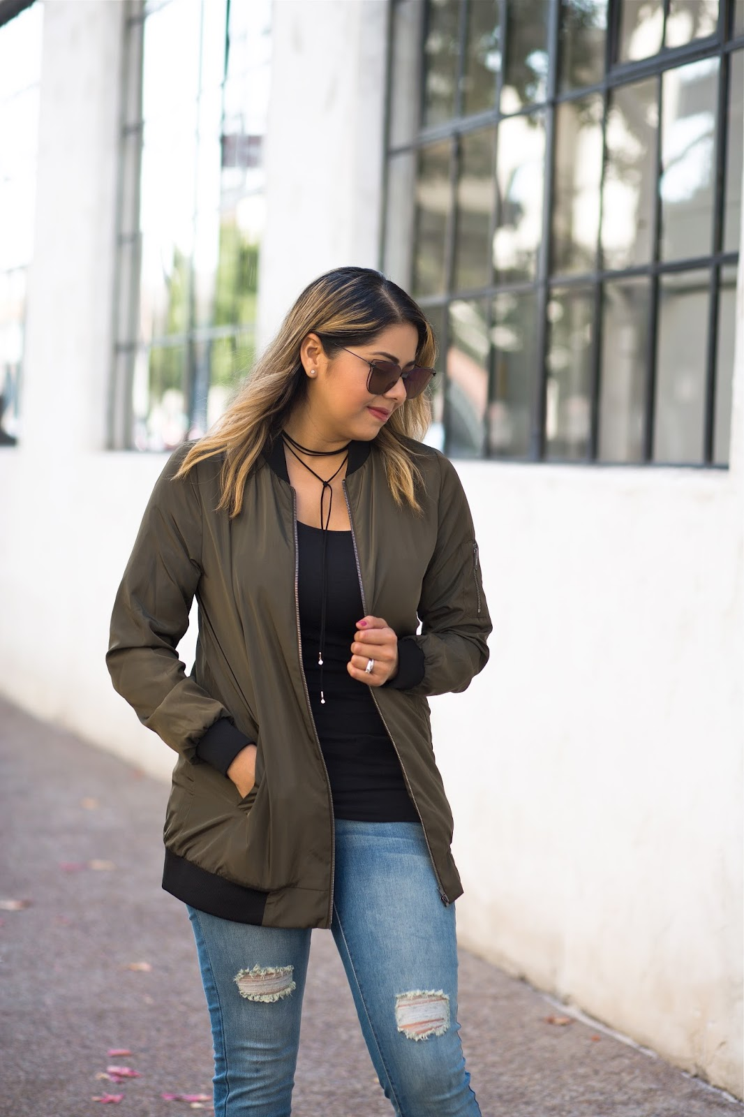 how to wear a bomber jacket, bomber jacket outfit idea, bomber jacket for fall 2016