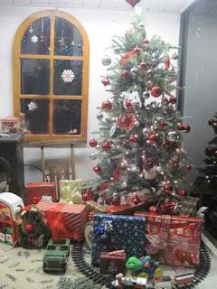 Christmas Tree Scene.