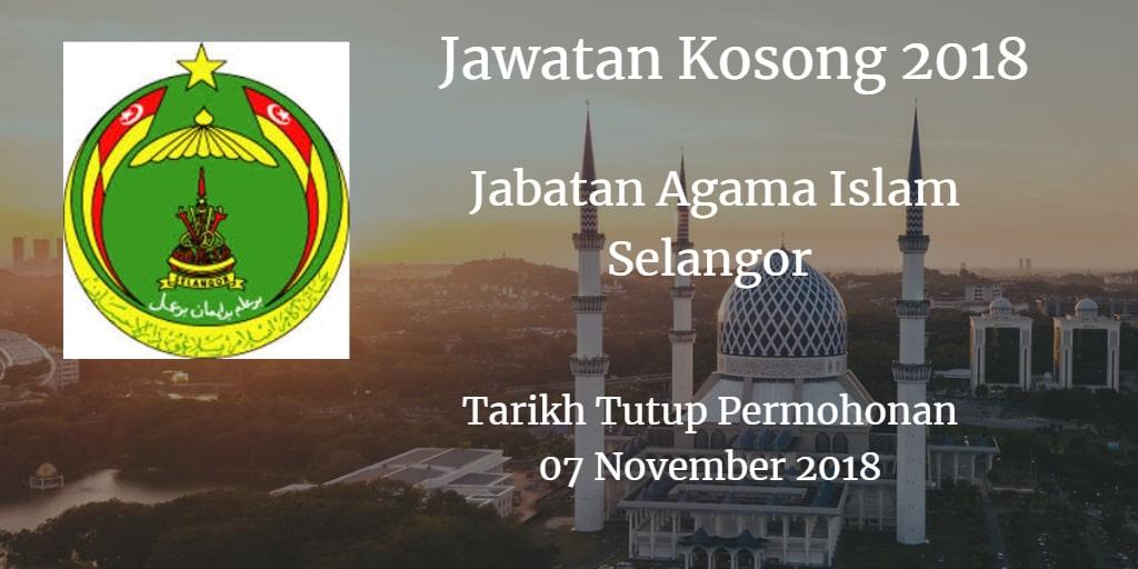 Jawatan Kosong JAIS 07 November 2018
