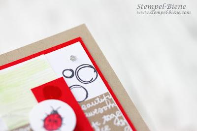 Marienkäferkarte; Stampin' Up! Penned & Painted; Matchthesketch; Stempel-Biene; Stampinup Blog; Stampinup Herbst-Winterkatalog 2016-2017