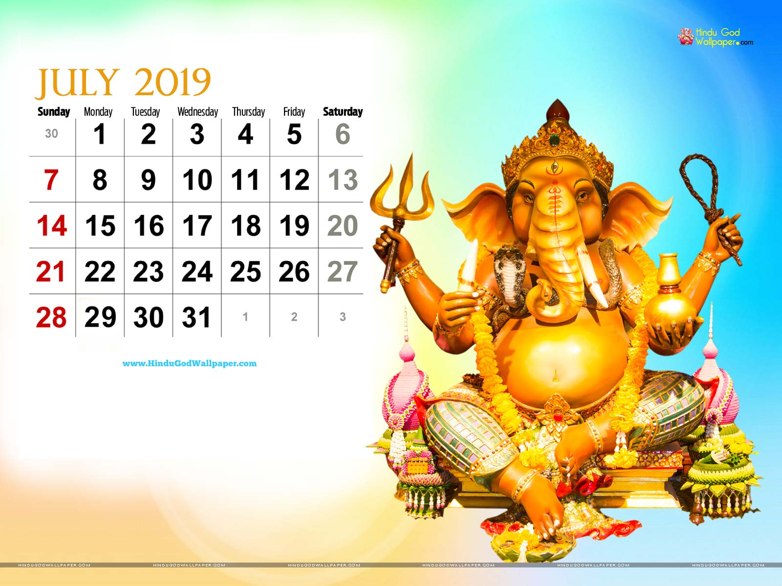 2019 Desktop Calendar Wallpapers and Images Free Download