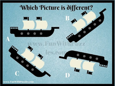 Easy Picture Puzzle to find which figure is different