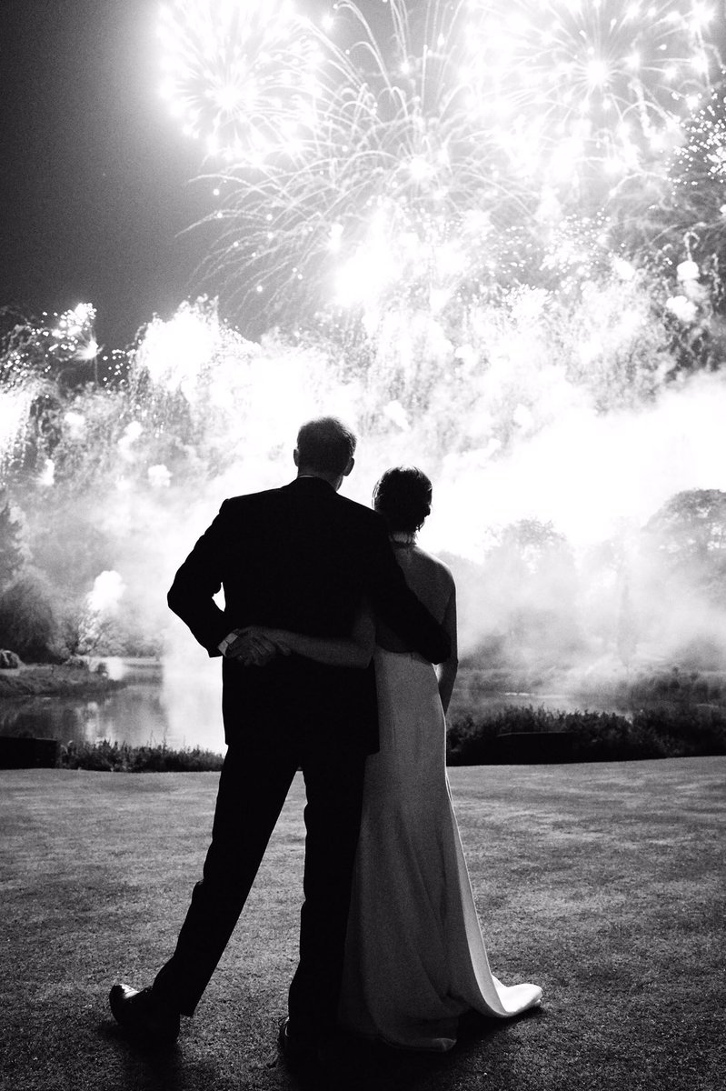 The Duke and Duchess of Sussex shared the new photo from their evening wedding reception