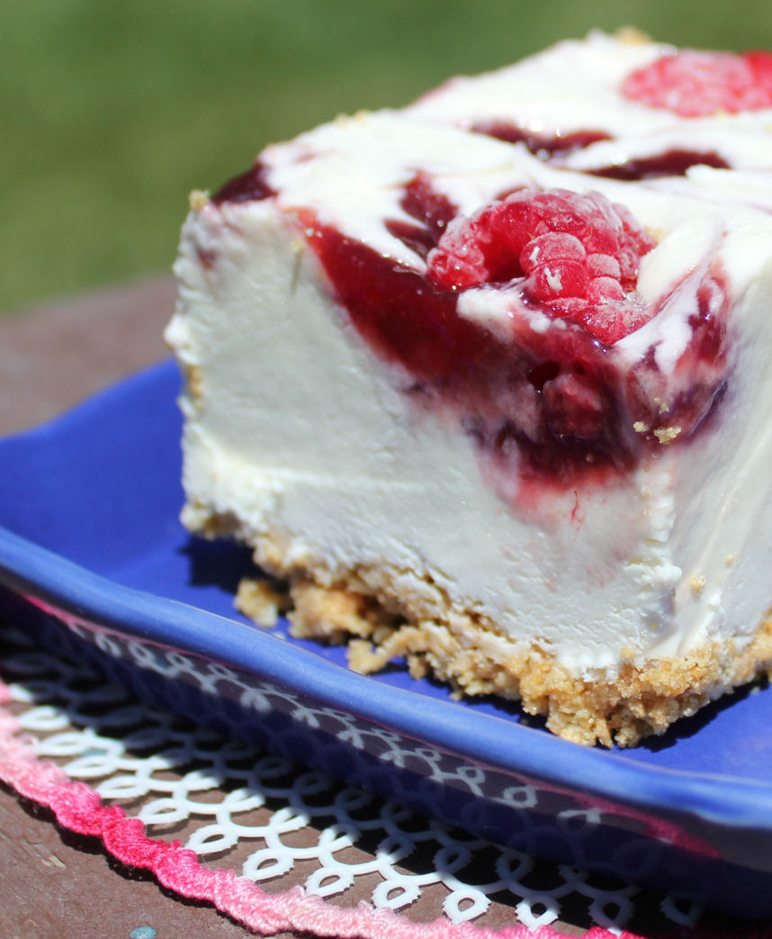 Raspberry Cheesecake Ice Cream Dessert
