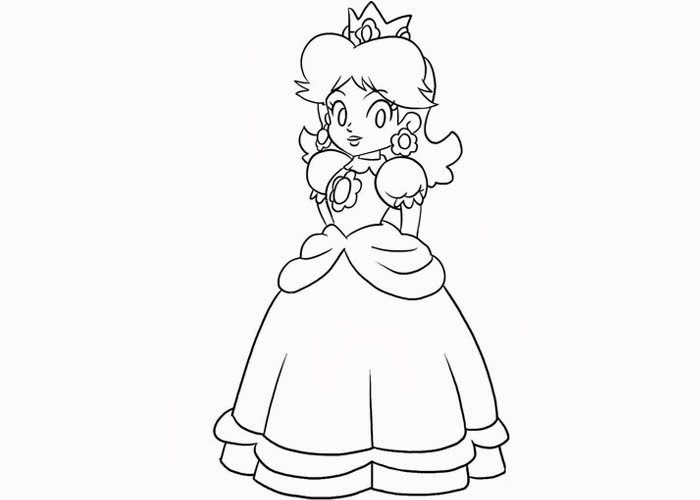 Princess Daisy Coloring Pages Free Coloring Pages And