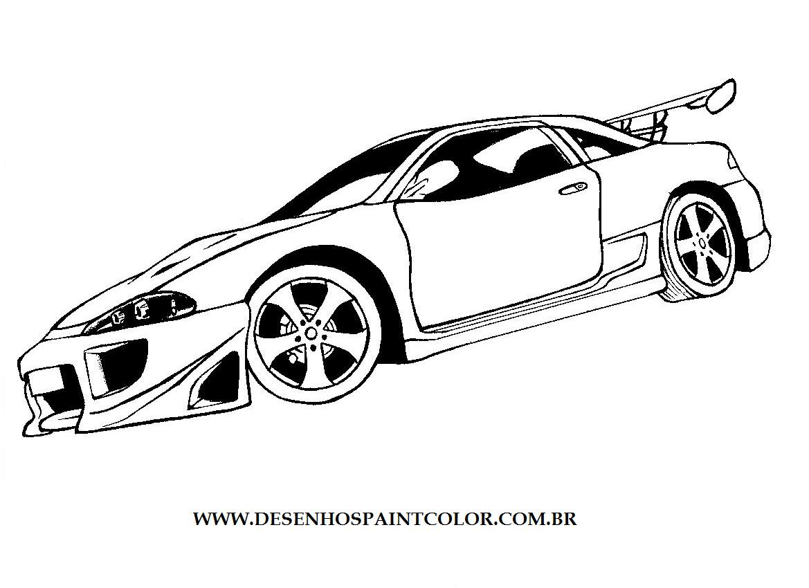 Desenhos para Pintar: Desenhos de Carros para Pintar