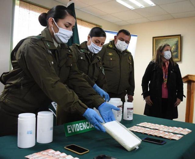 Osorno: Gobernador felicita a Carabineros por decomiso de 15 mil dosis de cocaína