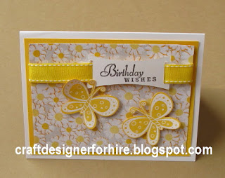 Butterflies & Daisies Birthday Card