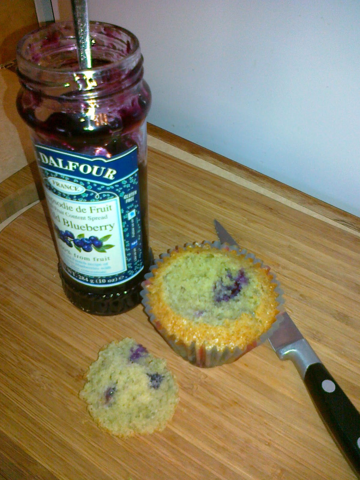 Blueberry & Lemon Cupcakes, with a rippled cream cheese frosting