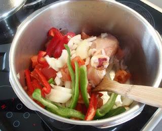 preparación del pollo a lo padre Pedro