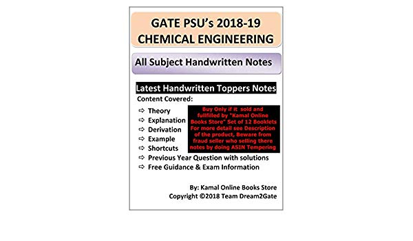 Gate Chemical Engineering Study Material Free Download Pdf