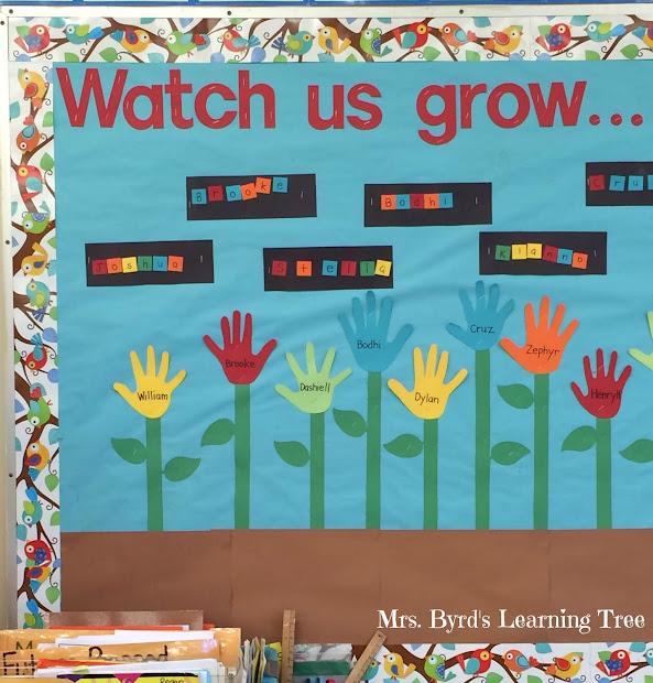 Kindergarten Learning Bulletin Boards
