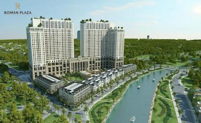 Phối cảnh dự án Roman Plaza Hải Phát