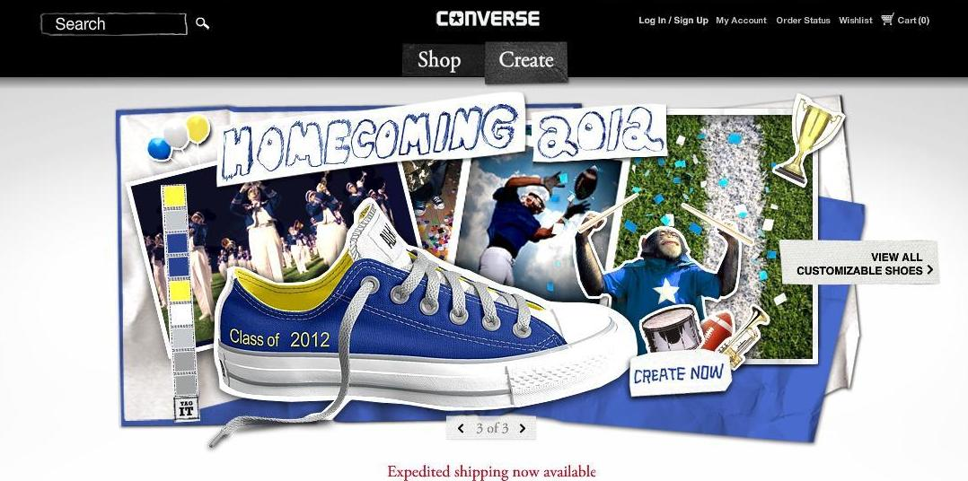 0e6a1141c7ff Pumped Up Kicks! Did you know you can design your own Converse shoes  Not  only that