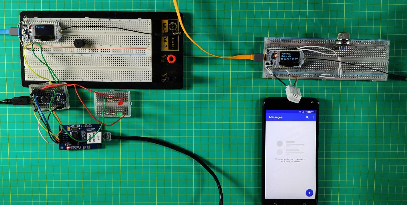 ESP32 LORA: Sensor de Gás, Umidade e Temperatura por SMS - Pt1 e Pt2
