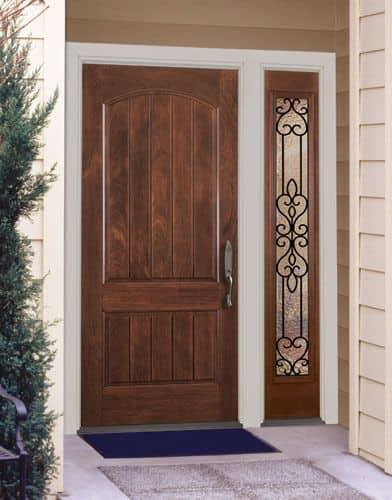 20 Modern Solid Dark Brown Wood Doors Ideas: 15 Modern Front Solid Wood Doors With Wrought Iron