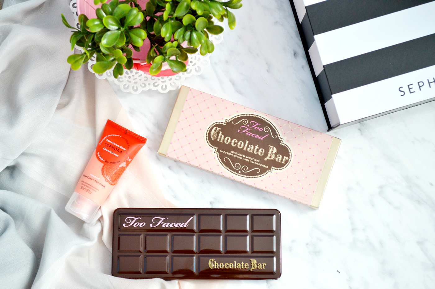 chocolate bar too faced paleta cieni haul zakupowy