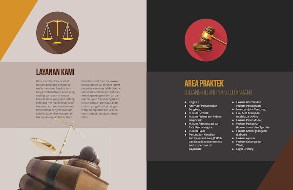 Law Firm Company Profile Sample Design