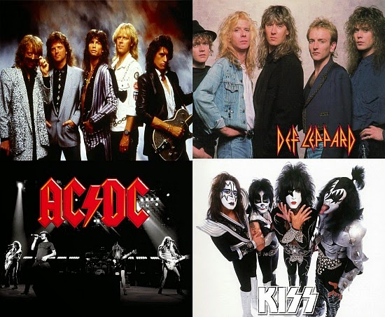 80s Metal Bands poster set