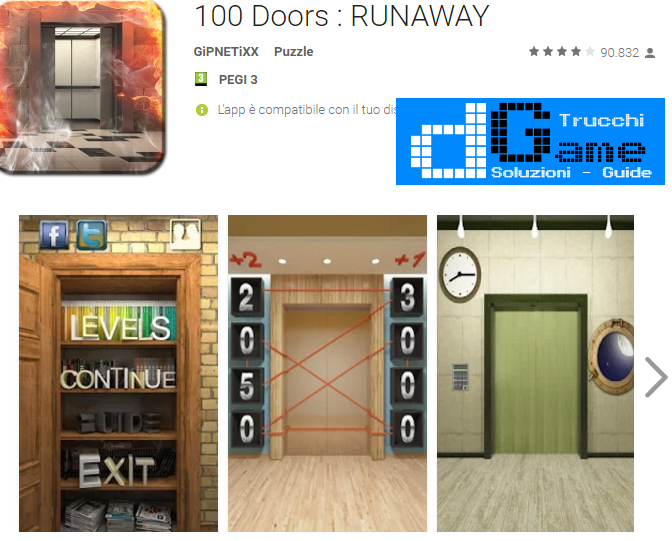 Soluzioni 100 Doors: RUNAWAY livello 51-52-53-54-55-56-57-58-59-60 | Trucchi e Walkthrough level