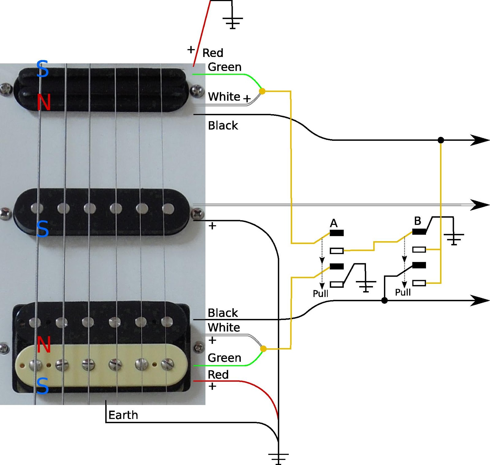 And Here This Solution Translated To A Fender 5way Switch