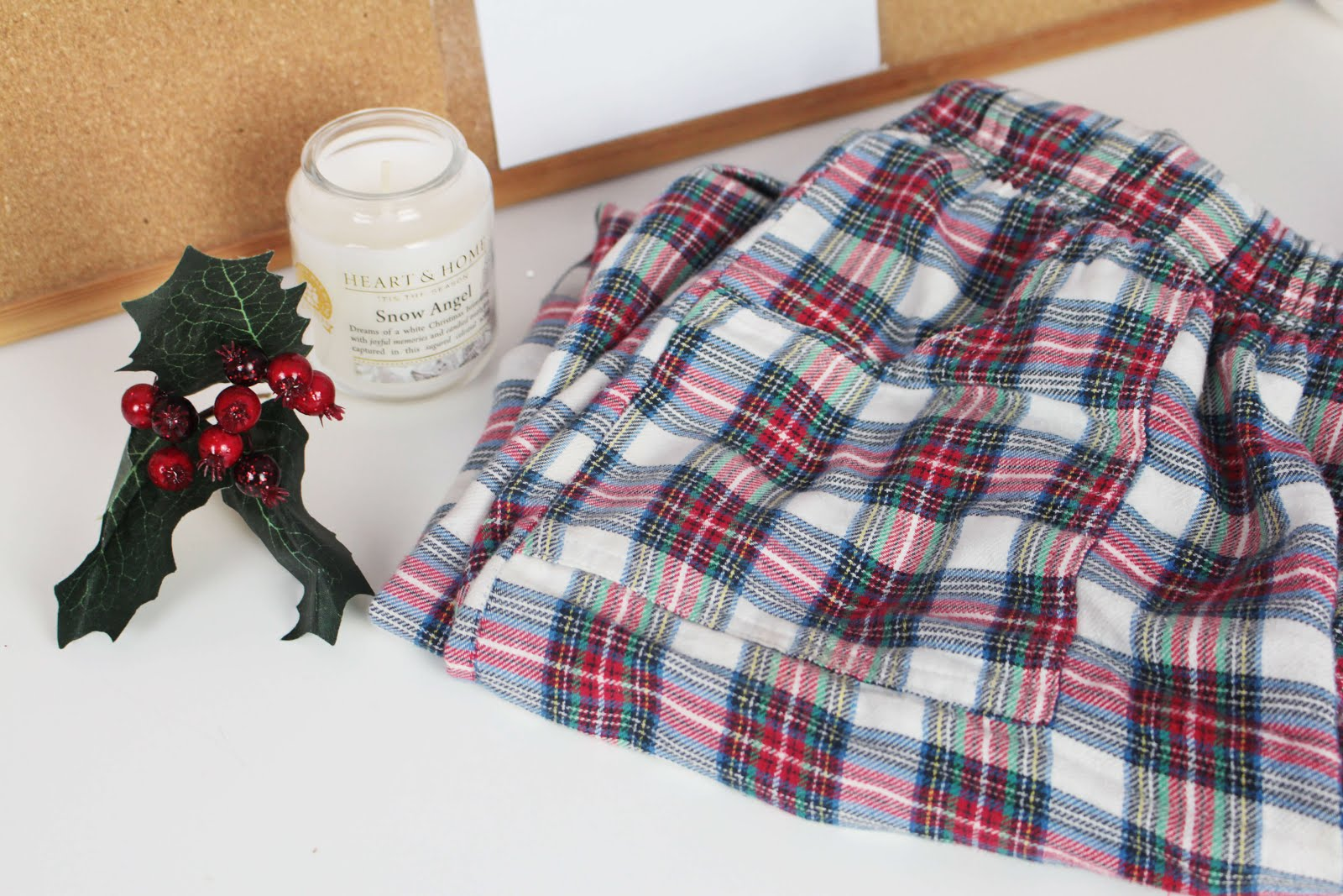 favourite winter items flannel pyjamas