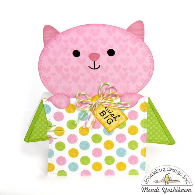 Doodlebug Design Kitten Smitten Shaped Cards by Mendi Yoshikawa using New Cutting Files