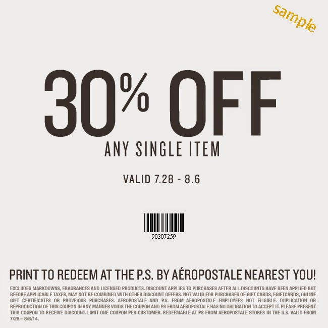 graphic regarding Talbots Printable Coupon named Aeropostale discount codes canada december 2018 : Tcp coupon codes printable