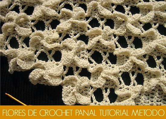 Flores Panal de Crochet Tutorial