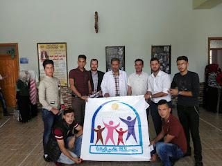 ابطال جامعة ديالی من حملة شبابنا يقومون بحملة توعية للنظافة
