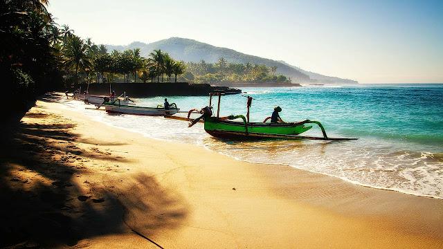 A bali beach scene.