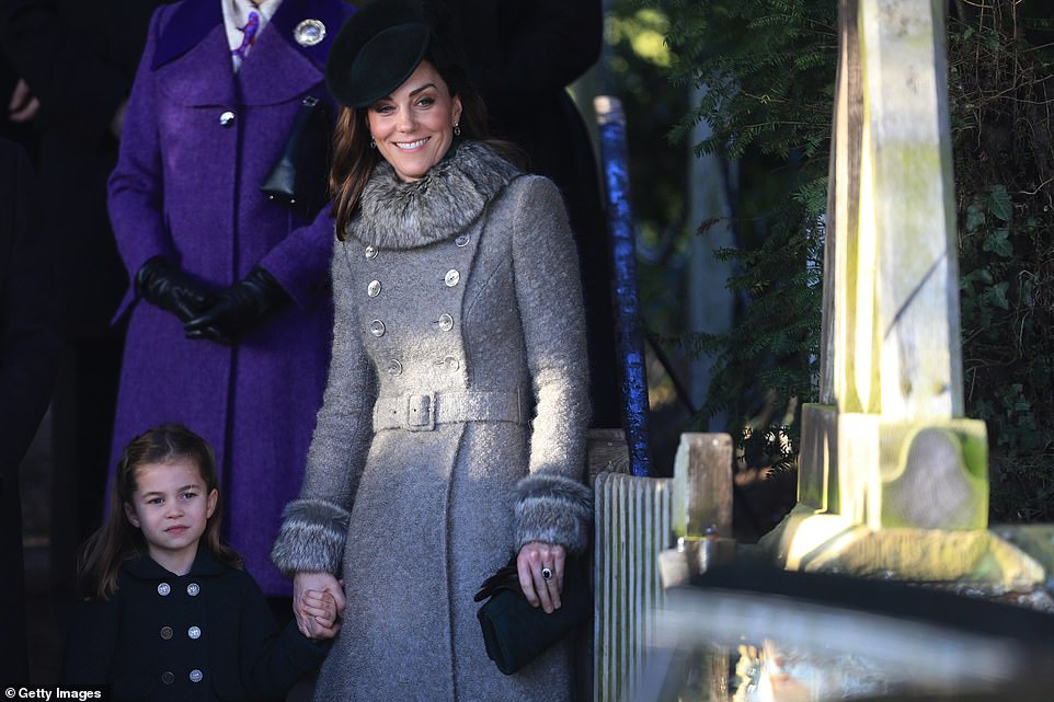 Duchess Kate and Princess Charlotte Attend Church Christmas Day 2019