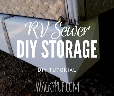 How I Added a Two Compartment Sewer Hose Storage to My Camper - Even Without A Bumper - Works for RV's Too!