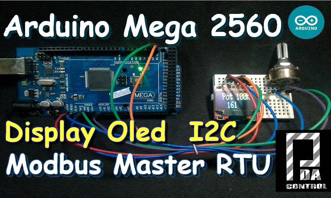Arduino Mega 2560 Oled Display I2C Master Modbus RTU Scada