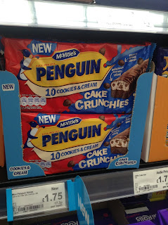 mcvities penguin cookies and cream crunchies