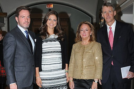 Princess Madeleine and Chris O'Neill attend the Christmas Lunch of the Swedish-American Chamber of Commerce