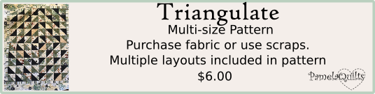 Triangulate Lap quilt