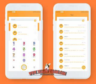 Tema Xiaomi Orange Simple Mtz Tembus Aplikasi WA by Gibran