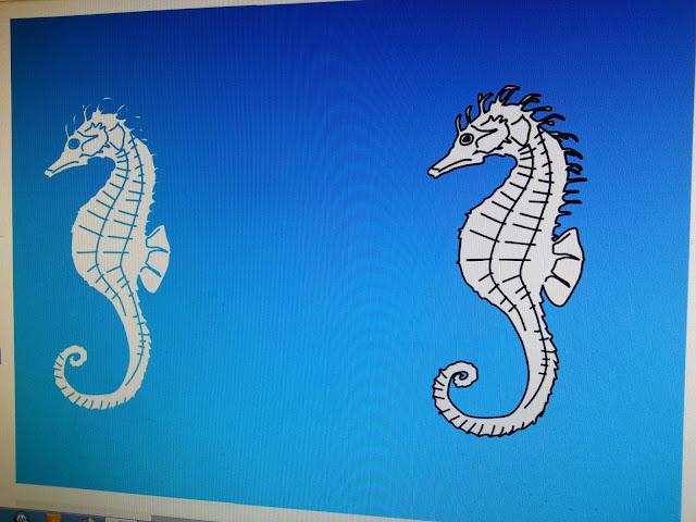 Seahorse vector illustration