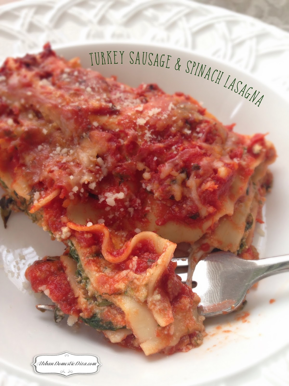 RECIPE: Turkey Sausage and Spinach Lasagna
