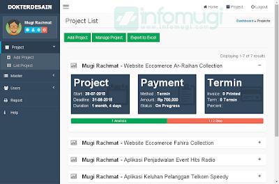 progress bar, bootstrap, contoh aplikasi manajemen proyek
