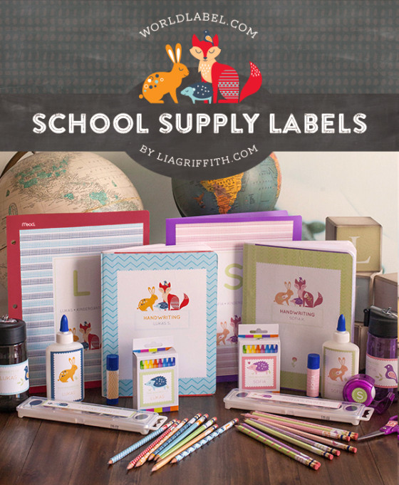 Ioanna's Notebook - 6 free printable school label sets