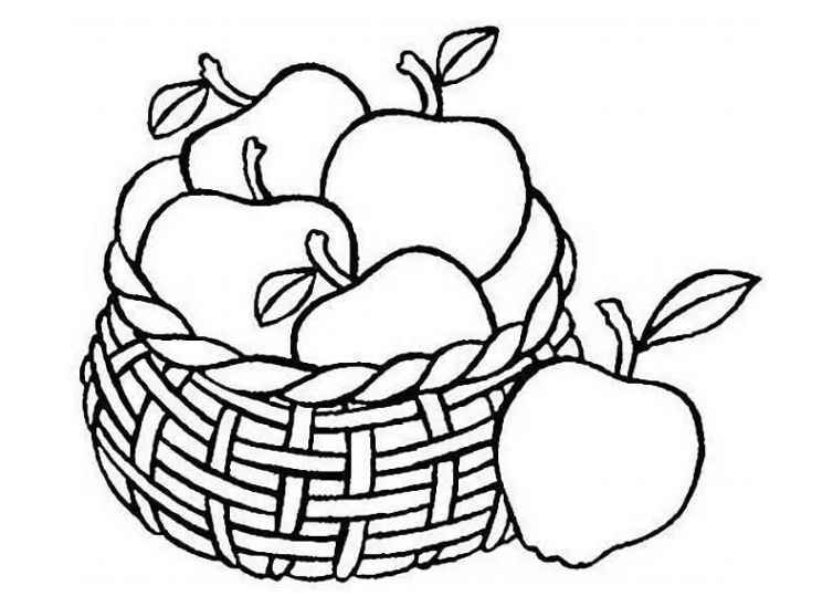 Apfel Malvorlage