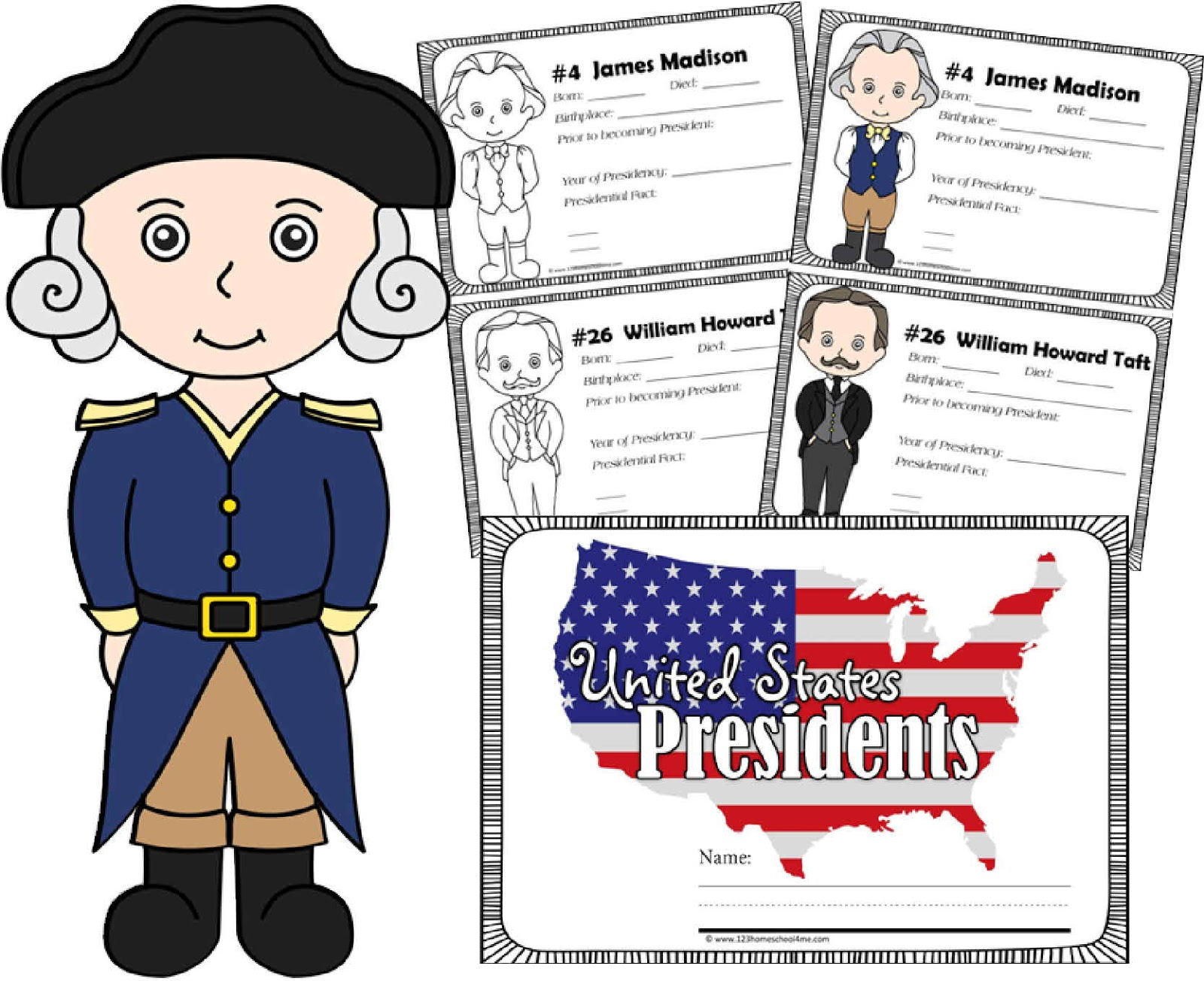 Kindergarten Worksheets And Games Free Presidents Coloring Pages