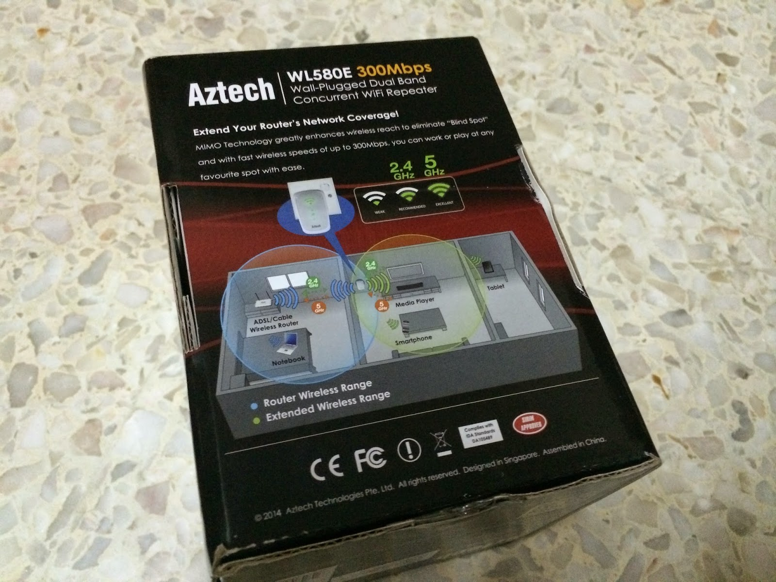 Unboxing & Review: Aztech WL580E Repeater 4